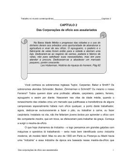CAPÍTULO II : Das corporações de ofício aos assala