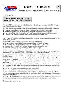 LISTA DE EXERCÍCIOS 7