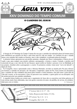 ÁGUA VIVA - Paroquia de S. João da Ribeira