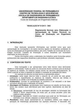 Res. n° 01/2013 - Universidade Federal de Pernambuco