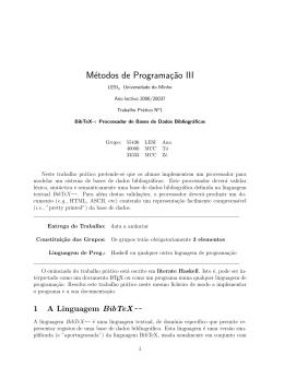 Métodos de Programaç˜ao III