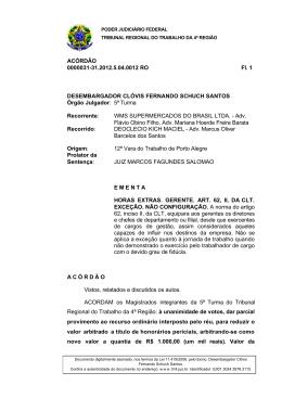 ACÓRDÃO 0000031-31.2012.5.04.0012 RO Fl. 1