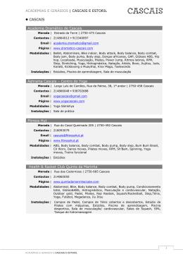 Academias e Ginásios de Cascais e Estoril