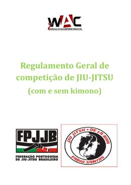 Regulamento Geral de competição de JIU-JITSU