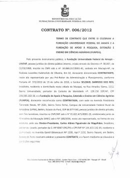 CONTRATO N°. 006/2012 - Universidade Federal do Amapá