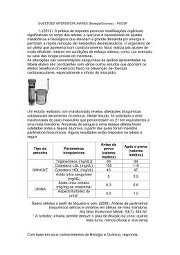 QUESTÕES INTERDISCIPLINARES (Biologia/Química)