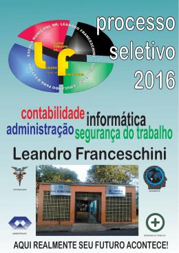 Manual do Vestibulinho - EM DR. LEANDRO FRANCESCHINI