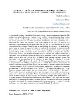 "VITAMINA ""C"" - Universidade de Rio Verde"