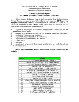 Edital de convocação 26º Exame de Seleção para Estágio Forense