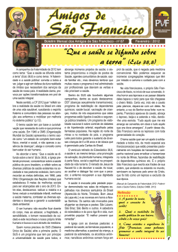 Boletim de Fevereiro - Franciscanos Santa Cruz
