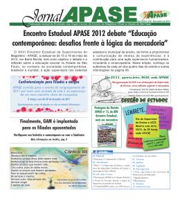 "Encontro Estadual APASE 2012 debate ""Educação contemporânea"