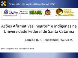 negros* e indígenas na Universidade Federal de Santa