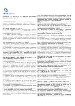 Leia aqui o contrato da Brasil Telecom Autorizatária.