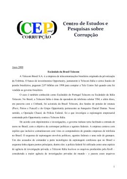 Brasil Telecom - Centro de Estudos e Pesquisas sobre Corrupção