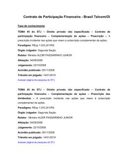 Contrato de Participação Financeira