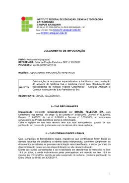 resposta impugnacao brasil telecom