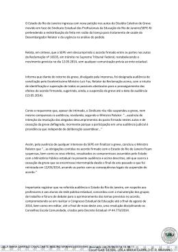 O Estado do Rio de Janeiro ingressa com nova petição nos autos