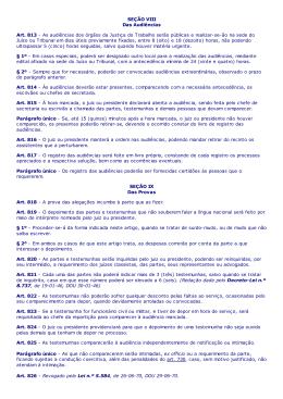 p - Consolidação das Leis do Trabalho Arts. 813 a 922