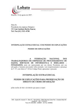 Interpelação Judicial contra Dataprev