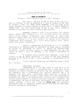 TERMO DE AUDIÊNCIA Processo nº RTOrd 0000642