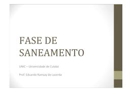 AULA 08 - FASE DE SANEAMENTO