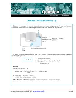 OSMOSE (Pressão Osmótica - π) - Portal de Estudos em Química