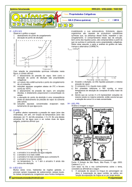Título: Propriedades Coligativas Curso: QS.2 (Físico