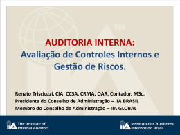 AUDITORIA INTERNA: Avaliação de Controles Internos e Gestão de