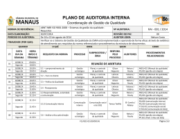 PLANO DE AUDITORIA INTERNA