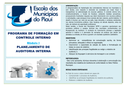 Folder Curso Planejamento de Auditoria Interna