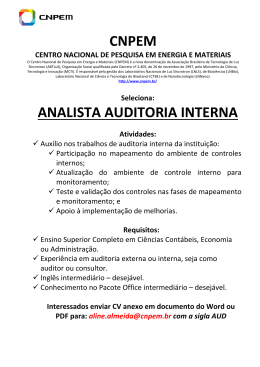 CNPEM ANALISTA AUDITORIA INTERNA