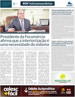 Presidente da Fecomércio afirma que a interiorização é