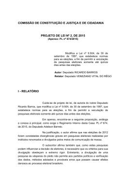 comissão de constituição e justiça e de cidadania projeto de lei nº 2