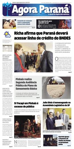 Richa afirma que Paraná deverá acessar linha de