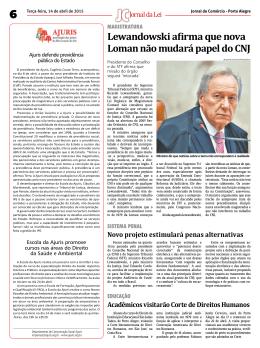Lewandowski afirma que nova Loman não mudará papel do CNJ