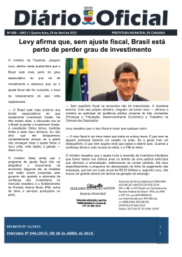 Levy afirma que, sem ajuste fiscal, Brasil está perto de perder grau