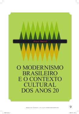 o modernismo brasileiro e o contexto cultural dos anos 20