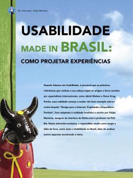 Entrevista usabilidade made in Brasil