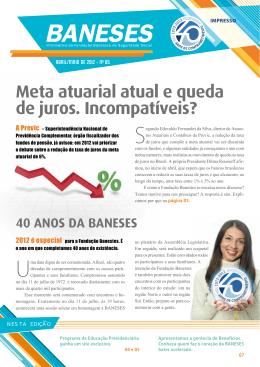 Informativo BANESES Nº 85