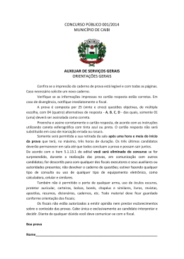 concurso público 001/2014 município de caibi auxiliar de serviços