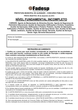 PROVA NVEL FUNDAMENTAL INCOMPLETO
