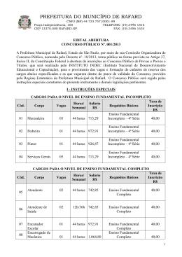 Abertura Edital - Instituto Indec