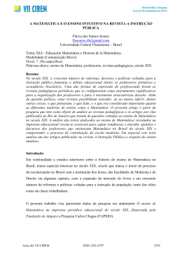 CIBEM 2013_SOARES - Universidade Federal Fluminense