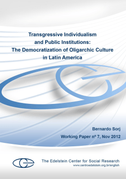 Transgressive Individualism and Public Institutions