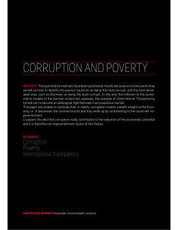 CORRUPTION AND POVERTY