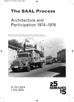 The SAAL Process Architecture and Participation 1974–1976