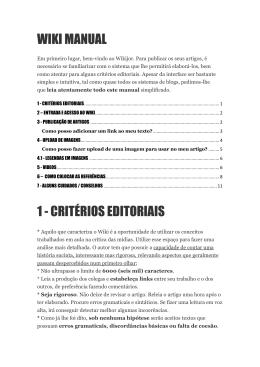 WIKI MANUAL 1 - CRITÉRIOS EDITORIAIS