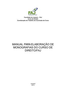MANUAL PARAELABORAÇÃO DE MONOGRAFIAS DO