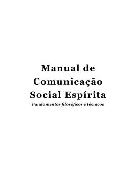 Manual de Comunicação Social Espírita
