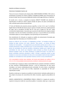 PREGÃO ELETRÔNICO Nº 06/2013 PROCESSO Nº 08206001718
